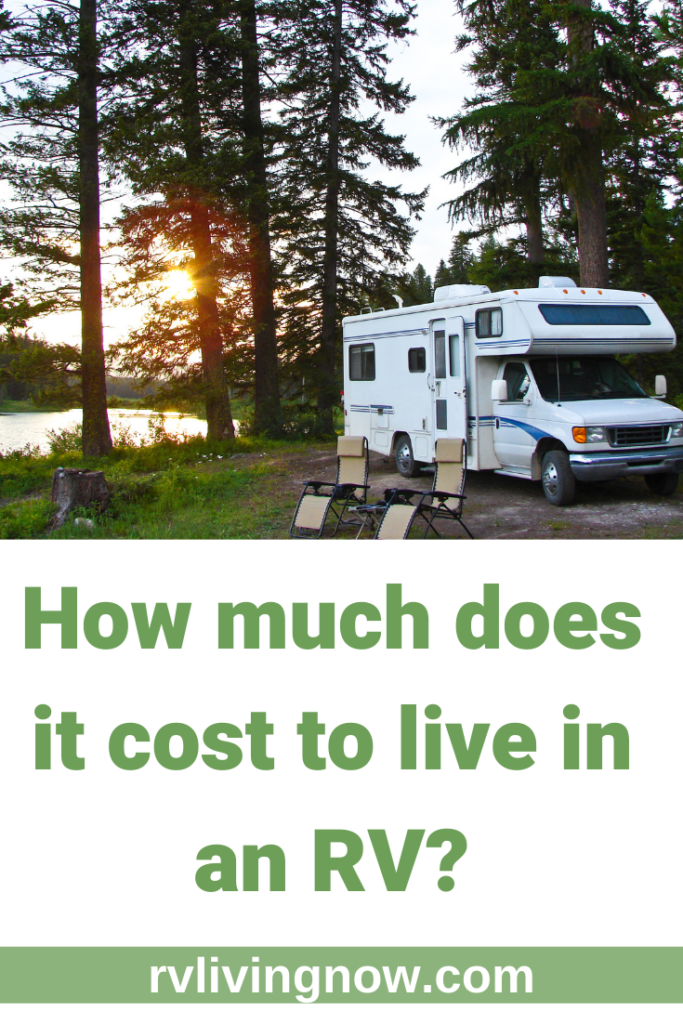 How much does it cost to live in an RV_