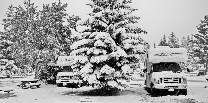 How To Skirt an RV for Winter