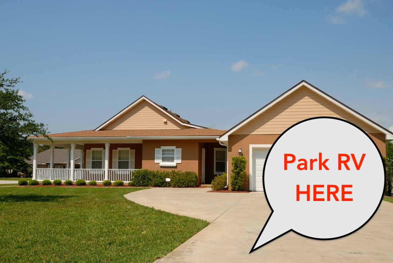 park an rv in the driveway